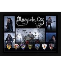 Cuadro Coleccion Púas Personajes Mägo de Oz - Firmado